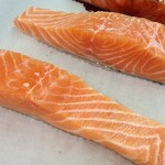 pieces of salmon